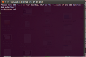 Convert 32-bit DEB into 64-bit DEB