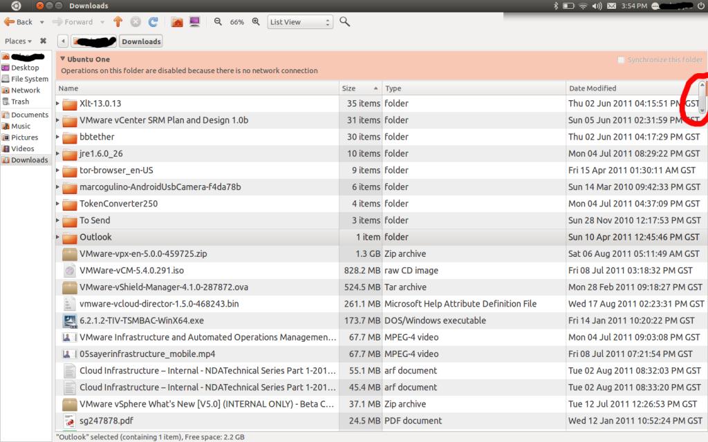 Ubuntu Unity New Scroll Bar